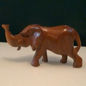 Solid Wood Carved Elephant